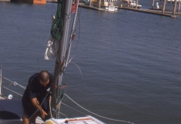 Placing the new mast