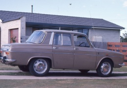 Our first family car, a brown Renault 10.