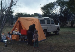 Our Landrover Station Wagon which had a tent annex at the back.