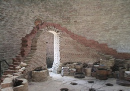 Inside the pottery kiln