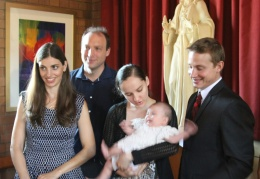 Godparents, parents and baby
