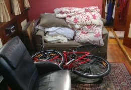 Bikes, TV and bedding organised for winter storage