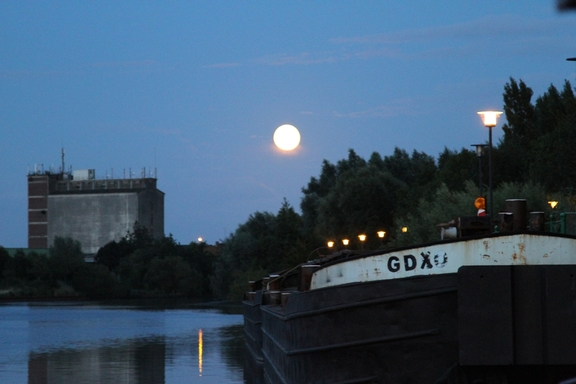 August moon at Quesnoy, France