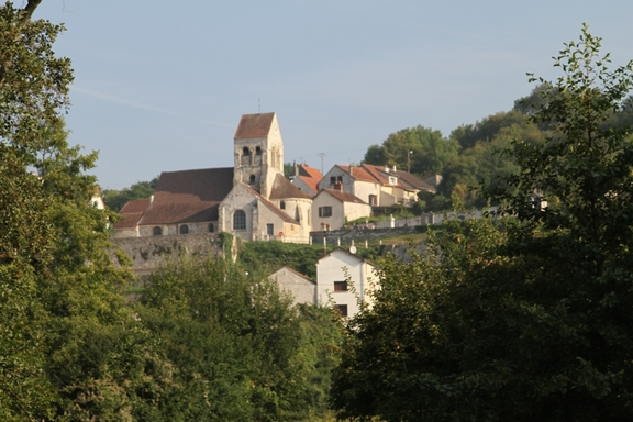 A Champagne Village with a fortified Church