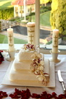 Wedding cake with family candles, Manly Golf Club