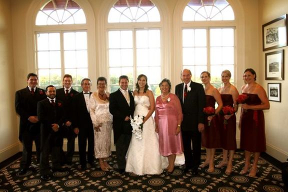 The bridal party with bride's and groom's parents