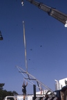 Craning in the new mast