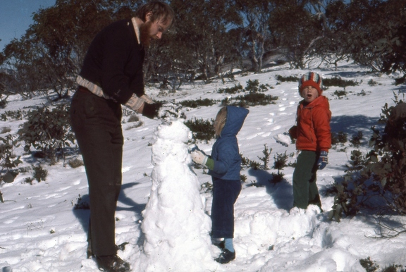 Snowman in the Brindabellas