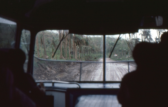 View through the bus window on the way from Nandi to the Resort