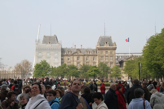 Square outside Notre Dame
