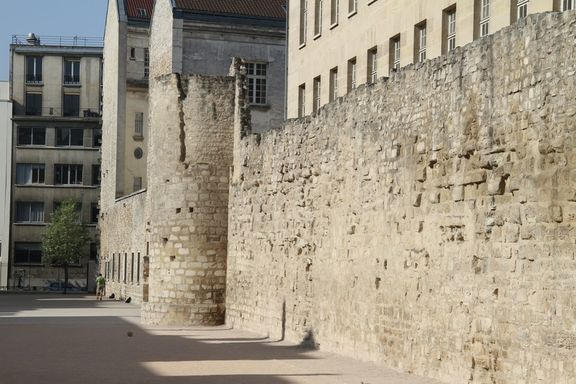 12th Century City Wall in the Marais district