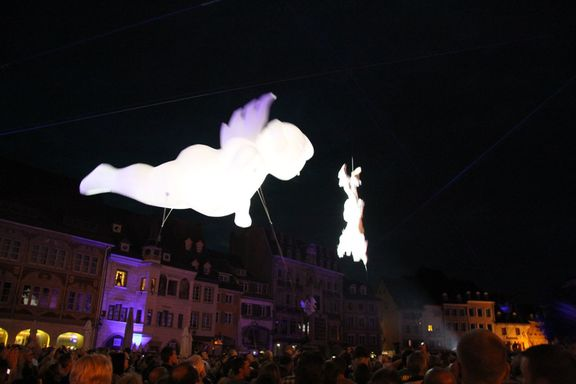 Aerial display for Bastille Day, Mulhouse