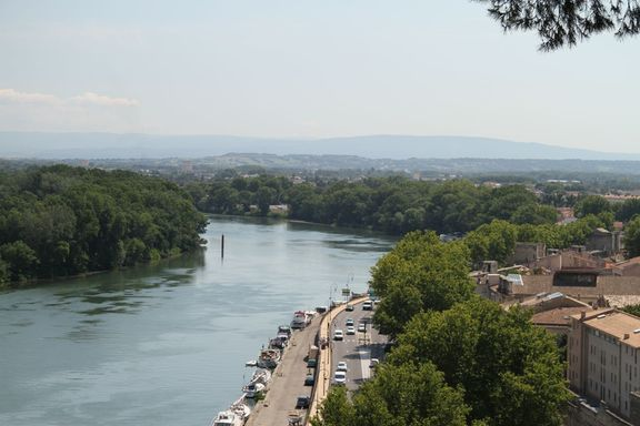 Rhone River, View from the Rocher des Doms, Avignon