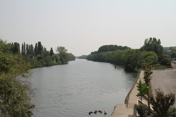 The Yonne at Pont sur Yonne