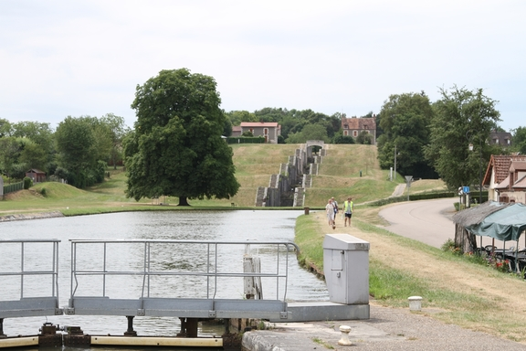 Seven lock staircase at Rogny from the days of Henry IV