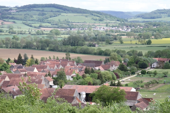 View from Grignon, well above the valley