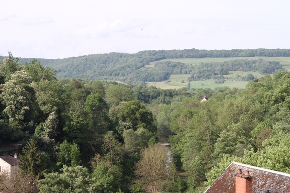 View over the Armancon from Semur