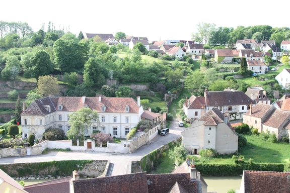 View from the ramparts of Semur
