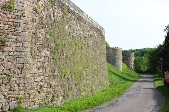 The wall of the ramparts