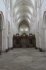 The 120 metre long Choir of Pontigny Abbey