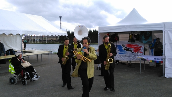 "Valiant band at  ""Fete Nautique"" at Migennes"