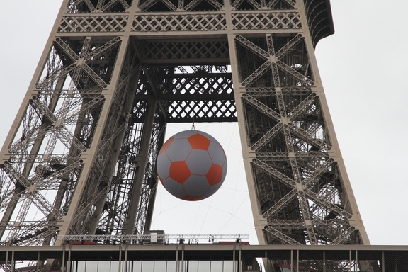 Eiffel Tower during the European Soccer Cup
