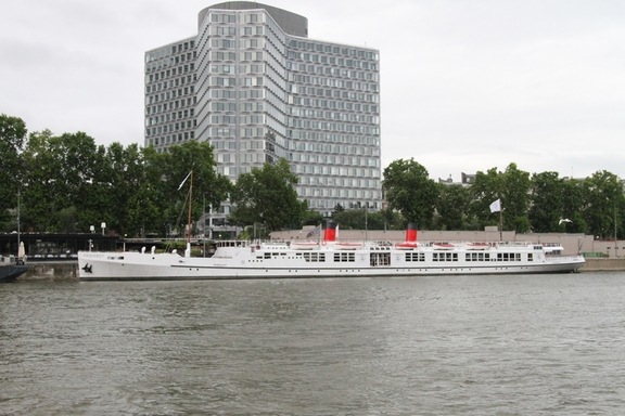 Historic Packet Boat on the Seine