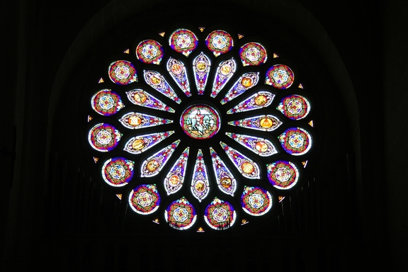 Rose Window, Church at L'Isle Adam