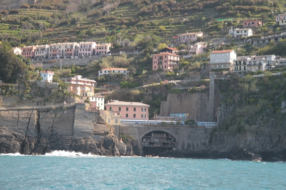 View from the Ferry, looking towards Corniglia