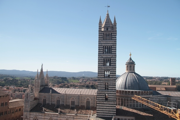 "View of Siena from the walls of the ""New Cathedral"""
