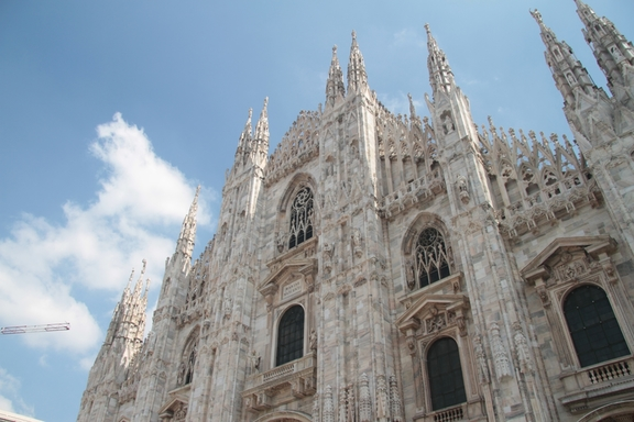 View of the roof of the Duomo