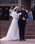 Jodie Meaney and husband Joseph MacDonald wedding, Duntroon Dec 1975