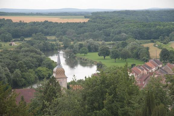 View from chateau at Ray sur Saone