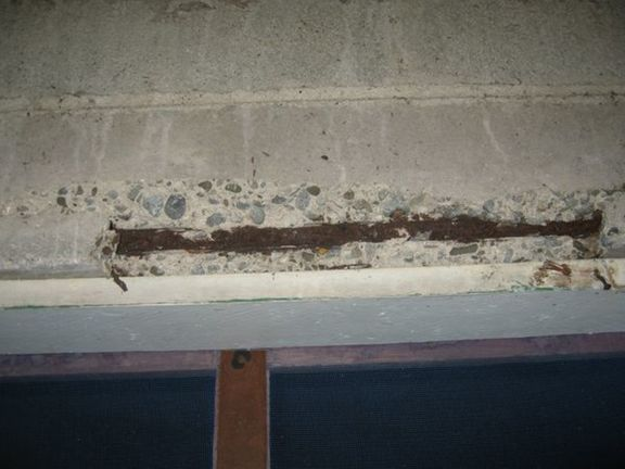 Rusted reinforcing