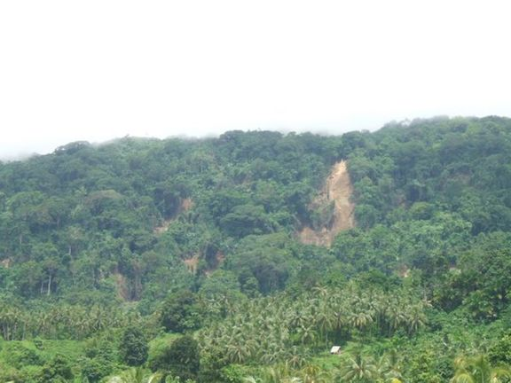 This is but one of 28 landslides we counted