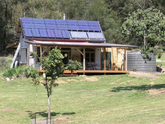 Solar powered cottage