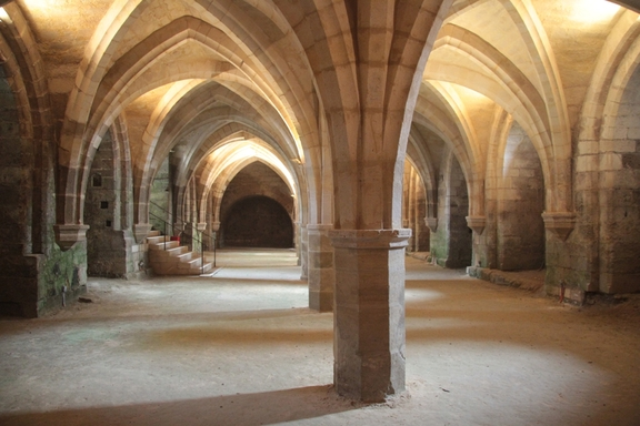 Cellars in Ancient Abbey of Soissons