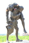 "The ""Cobber"" statue of Sergeant Fraser at Fromelles Australian Memorial Park"