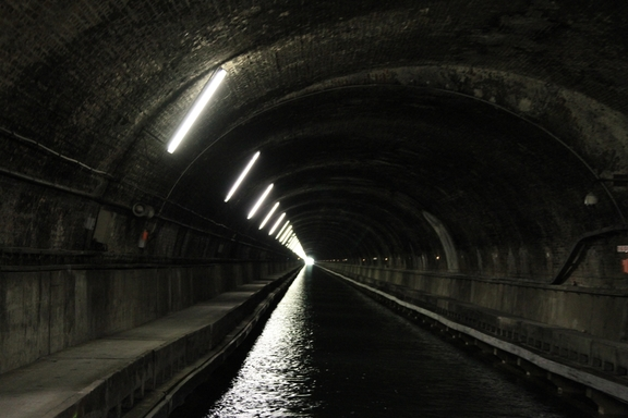 Through the Ruyalcourt Tunnel, Canal du Nord
