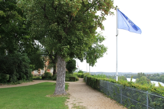 The Chateau gardens at Pontoise