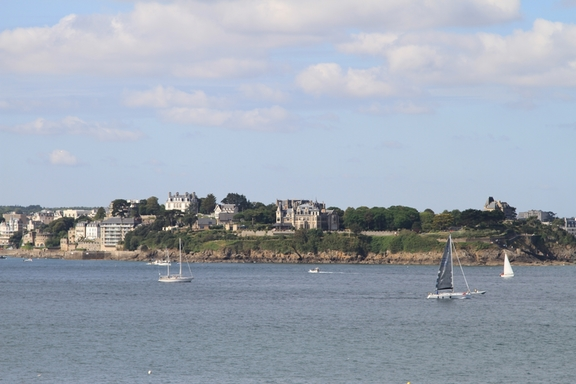 Looking across the bay to Dinard