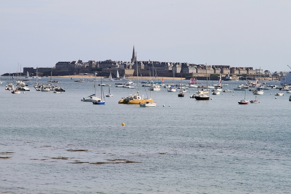 Looking back to St Malo