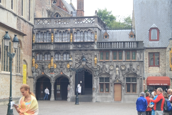 Entry to the Basilica, Brugge