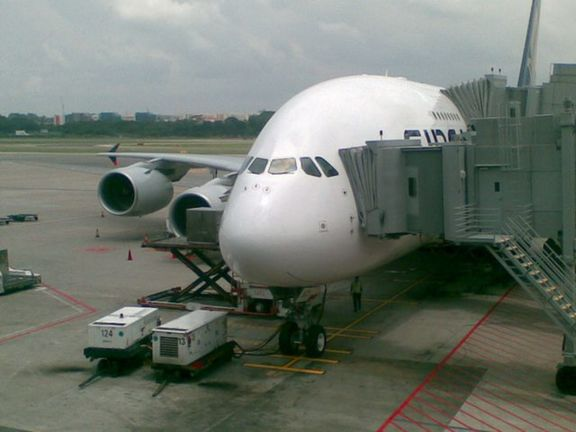 Airbus 380- our transport to Heathrow