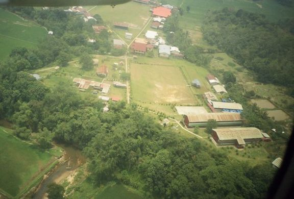 The school. The two long buildings at the bottom of the picture are (from top down) the classrooms and the dormitory.