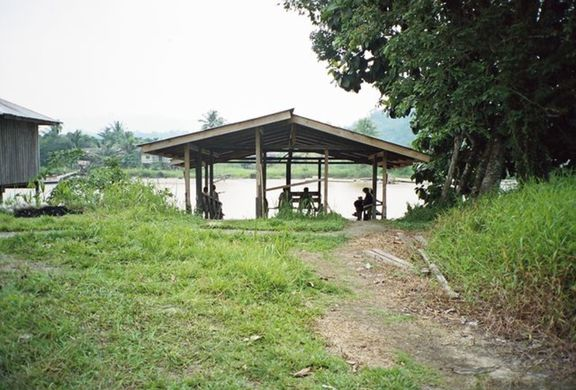 "The ferry stop in Lawas, which is ""the town"" when you live in Buduk Nur."