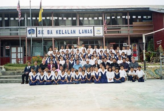 the school. Elyse is my fellow 'Anak Tuwan' (white kid) at to the left of the photo.