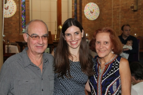 AKK and her parents