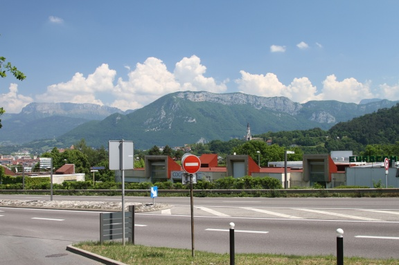 View of the French Alps from near Annecy