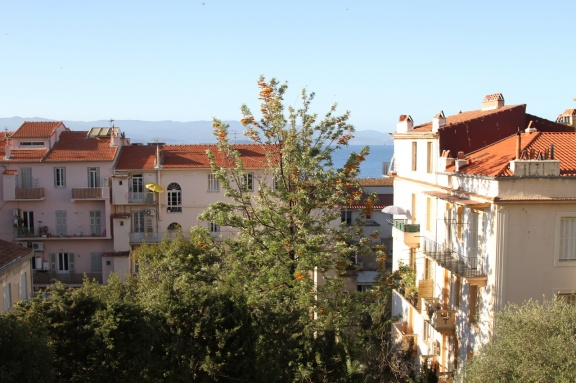 The view from our apartment in Ajaccio